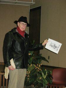 Jack Ogburn in costume for talk